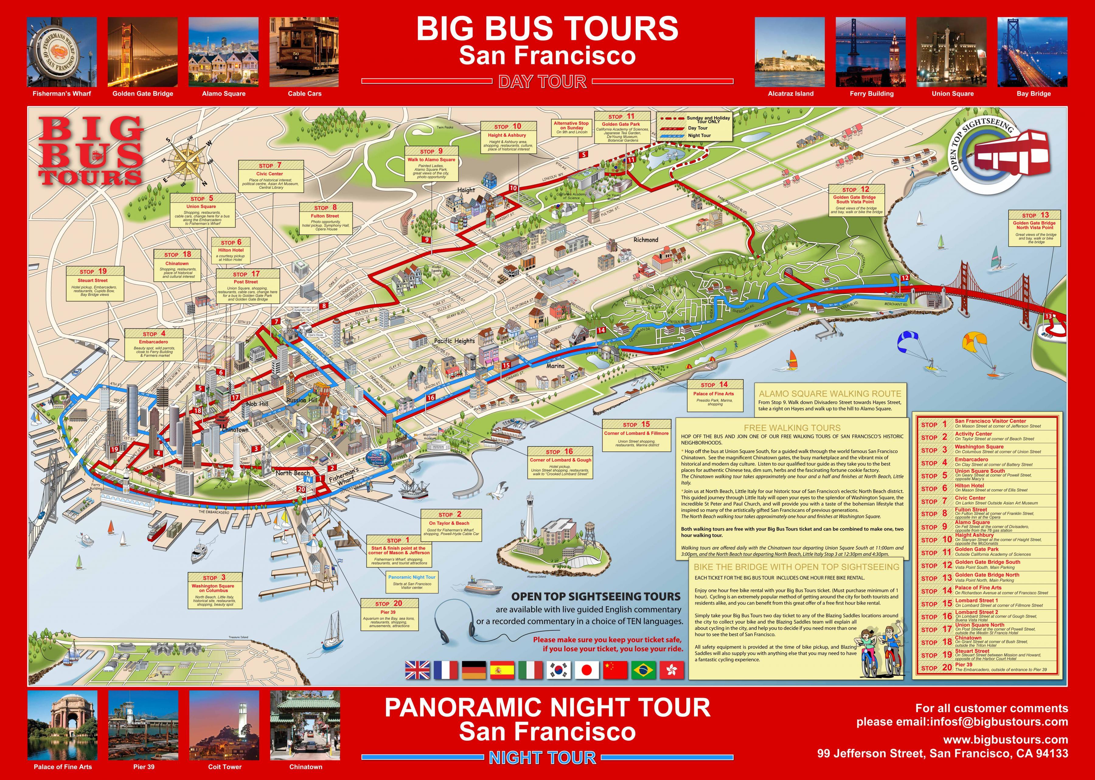 Big Bus Tour San Francisco Peta Big Red Bus San Francisco Peta California Usa